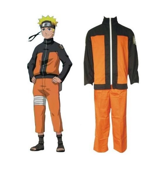 Fantasia/Cosplay Com Bandana Infantil  Naruto Uzumaki: Naruto Shippuden (Preto e Laranja)