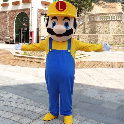 Fantasia Cosplay Luigi Cosntrutor Maker: Super Mario Bros Medio - MKP