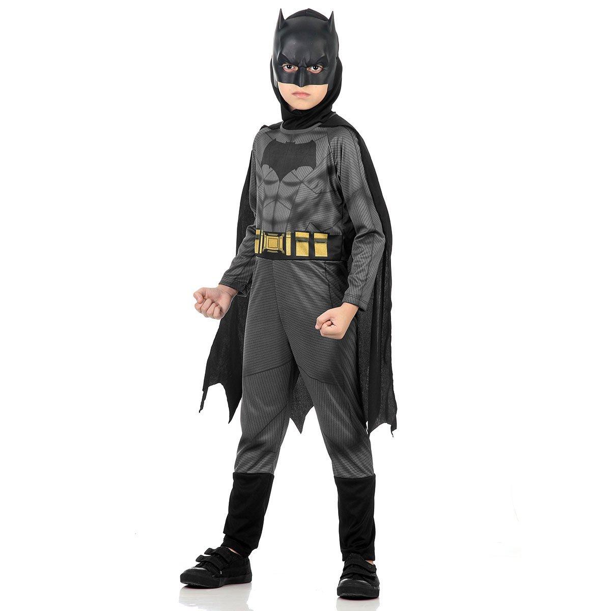 Fantasia Infantil Batman Macacão Com Capa: Batman vs Superman: A Origem da Justiça - Sulamericana