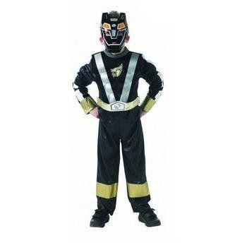 Fantasia Infantil: Black Ranger Muscle Chest M - Rubies