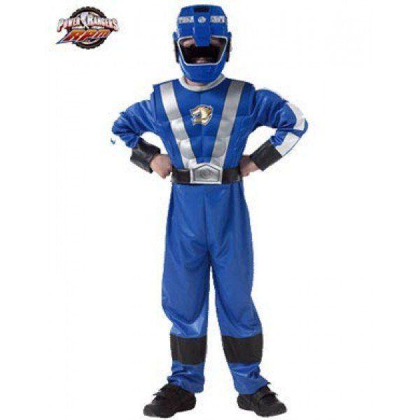 Fantasia Infantil: Blue Ranger Muscle Chest M - Rubies