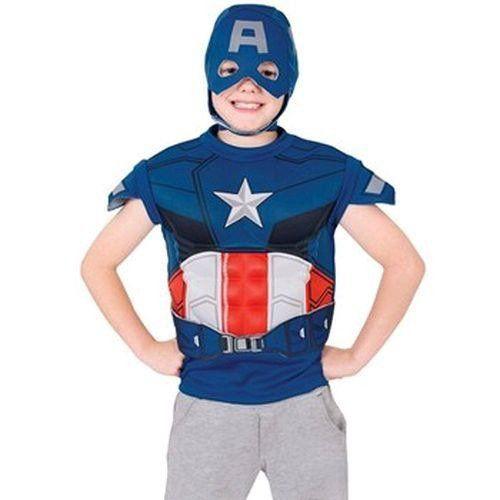Fantasia Infantil: Capitão América Camiseta Muscle Chest U - Rubies