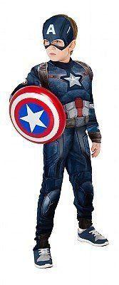 Fantasia Infantil Capitão América com Escudo Luxo