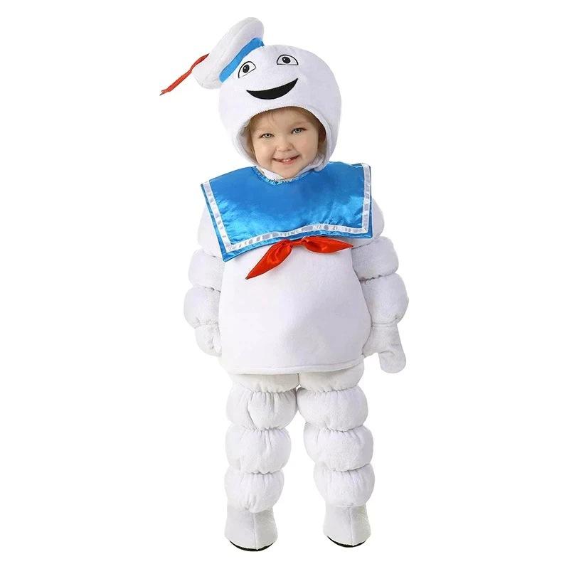 Fantasia Infantil Cosplay Unissex Stay Puft Marshmallow: Os Caça Fantasma The Ghostbusters Halloween - MKP