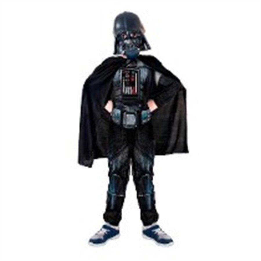 Fantasia Infantil Darth Vader: Star Wars Longo Luxo
