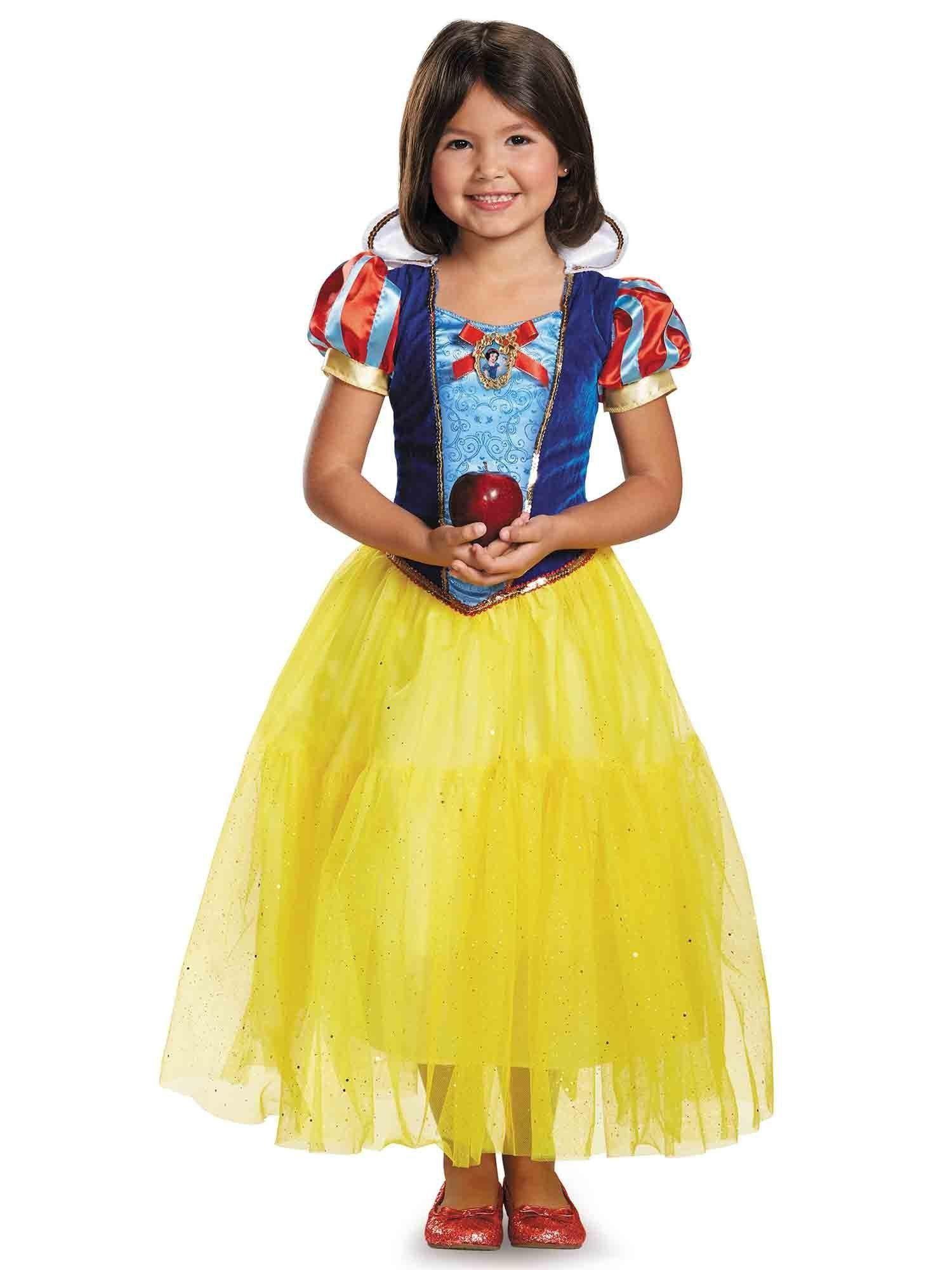 Fantasia Infantil Feminino Branca de Neve: Disney (Deluxe) (Apenas Venda Online)