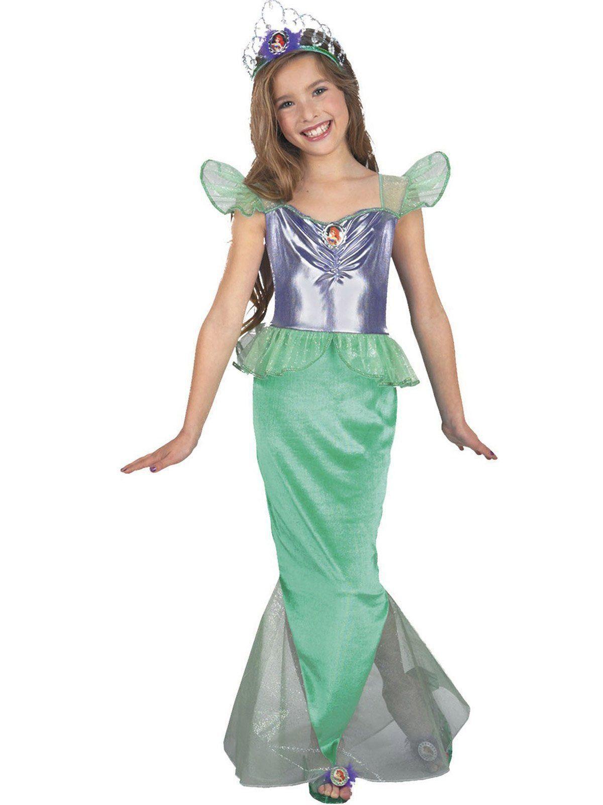 Fantasia Infantil Feminino Pequena Sereia (Longo): Disney (Apenas Venda Online)