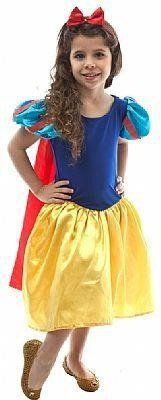 Fantasia Infantil Feminino: Princesinha Branca de Neve Luxo