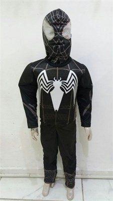 Fantasia Infantil Homem Aranha (Spider-Man) Luxo Uniforme Preto