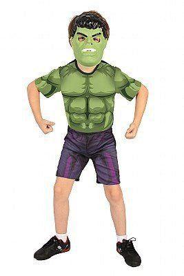 Fantasia Infantil Hulk Curta