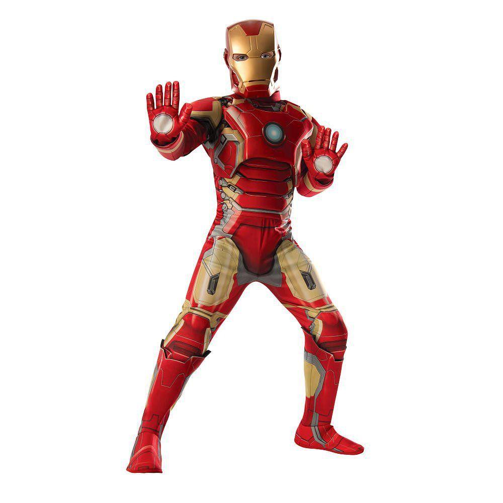 Fantasia Infantil: Iron Man Muscle Chest G - Rubies