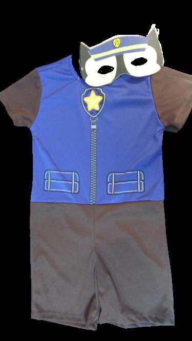 Fantasia Infantil Masculino Chase: Patrulha Canina (Azul)