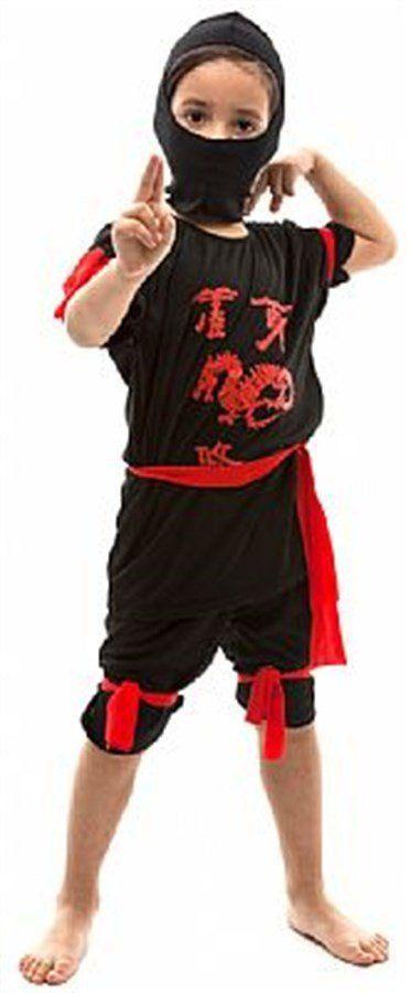 Fantasia Infantil Masculino: Ninja Curto Preto