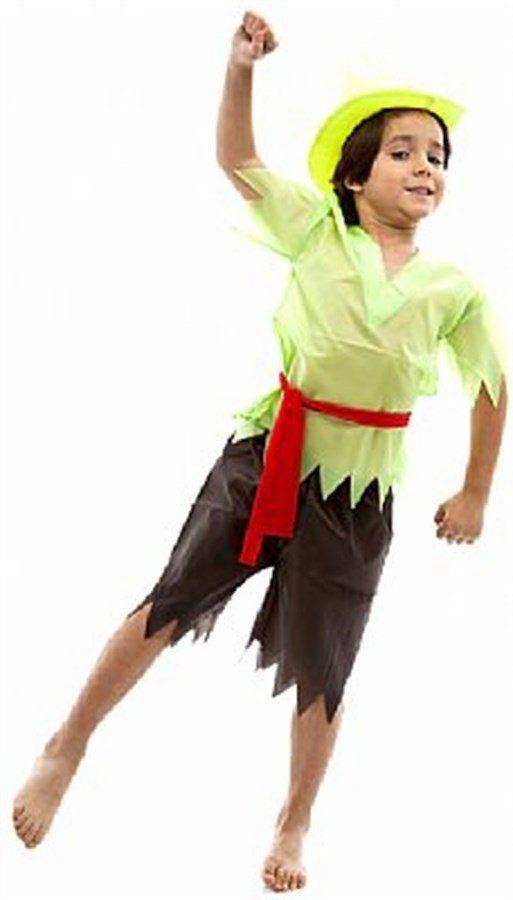 Fantasia Infantil Masculino: Peter Pan com Bermuda