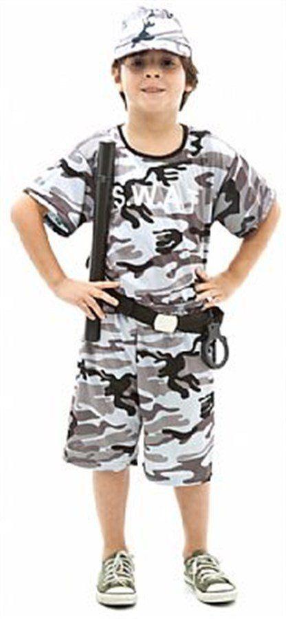 Fantasia Infantil Masculino: Policial SWAT