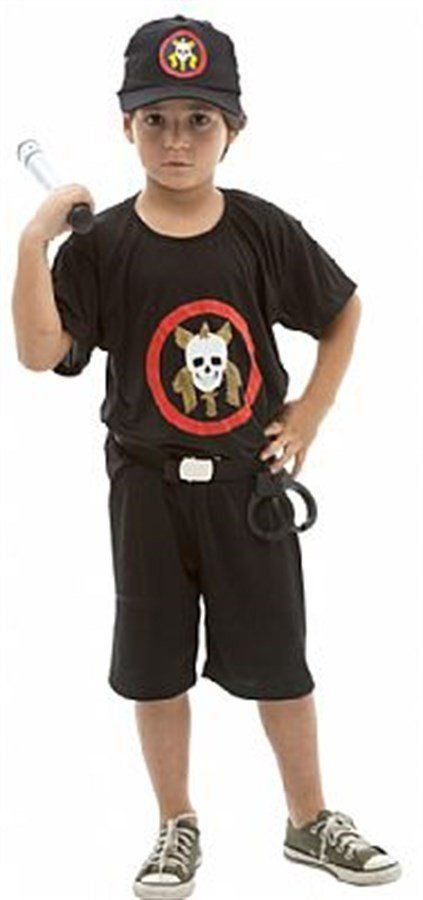 Fantasia Infantil Masculino: Policial Tropa de Elite