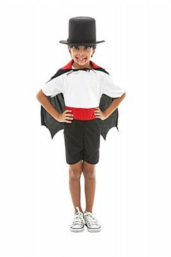 Fantasia Infantil Masculino: Vampirinho com Bermuda