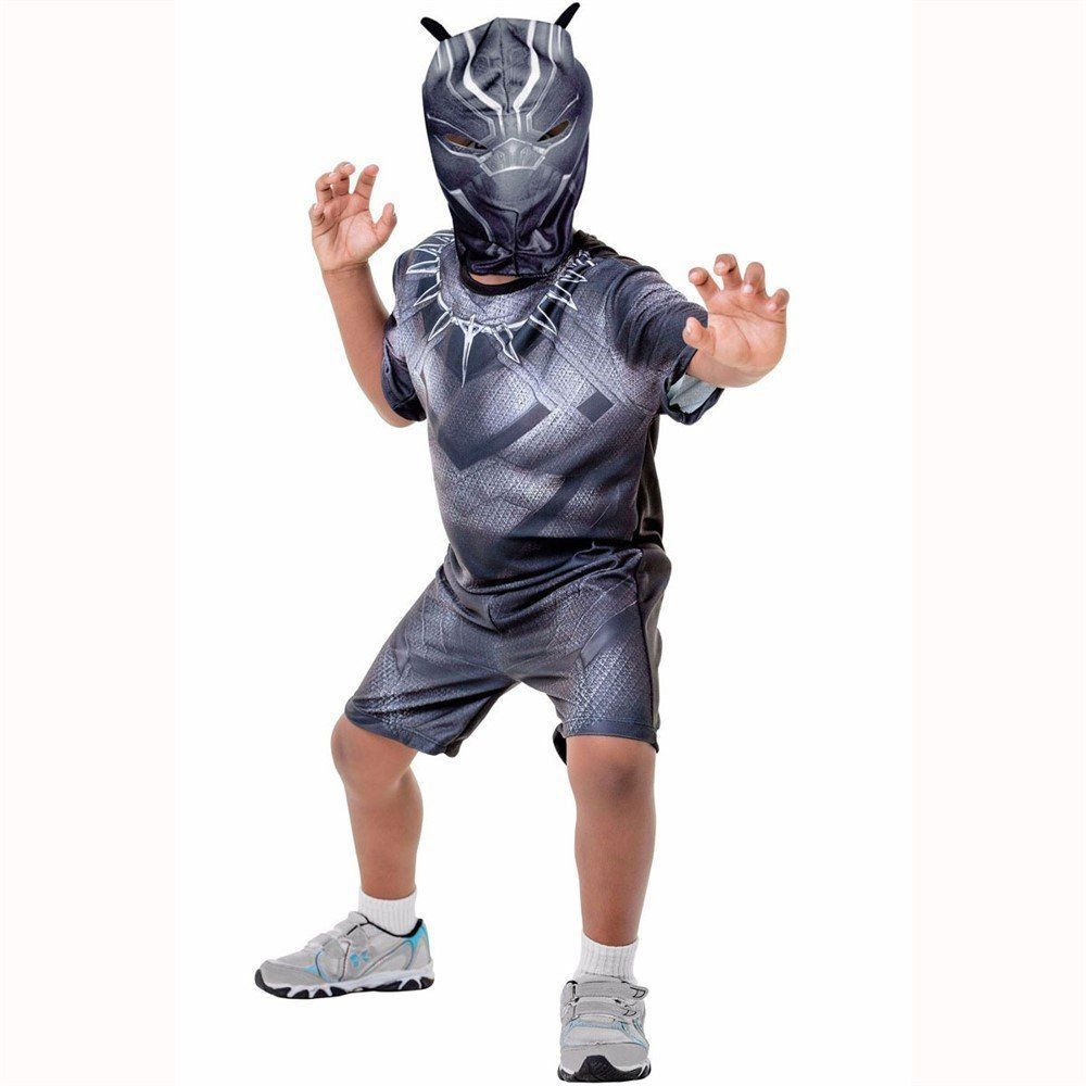 Fantasia Infantil: Pantera Negra Curta M - Rubies