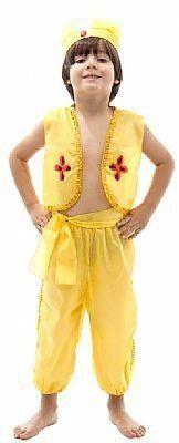 Fantasia Infantil Príncipe Aladdin Amarelo