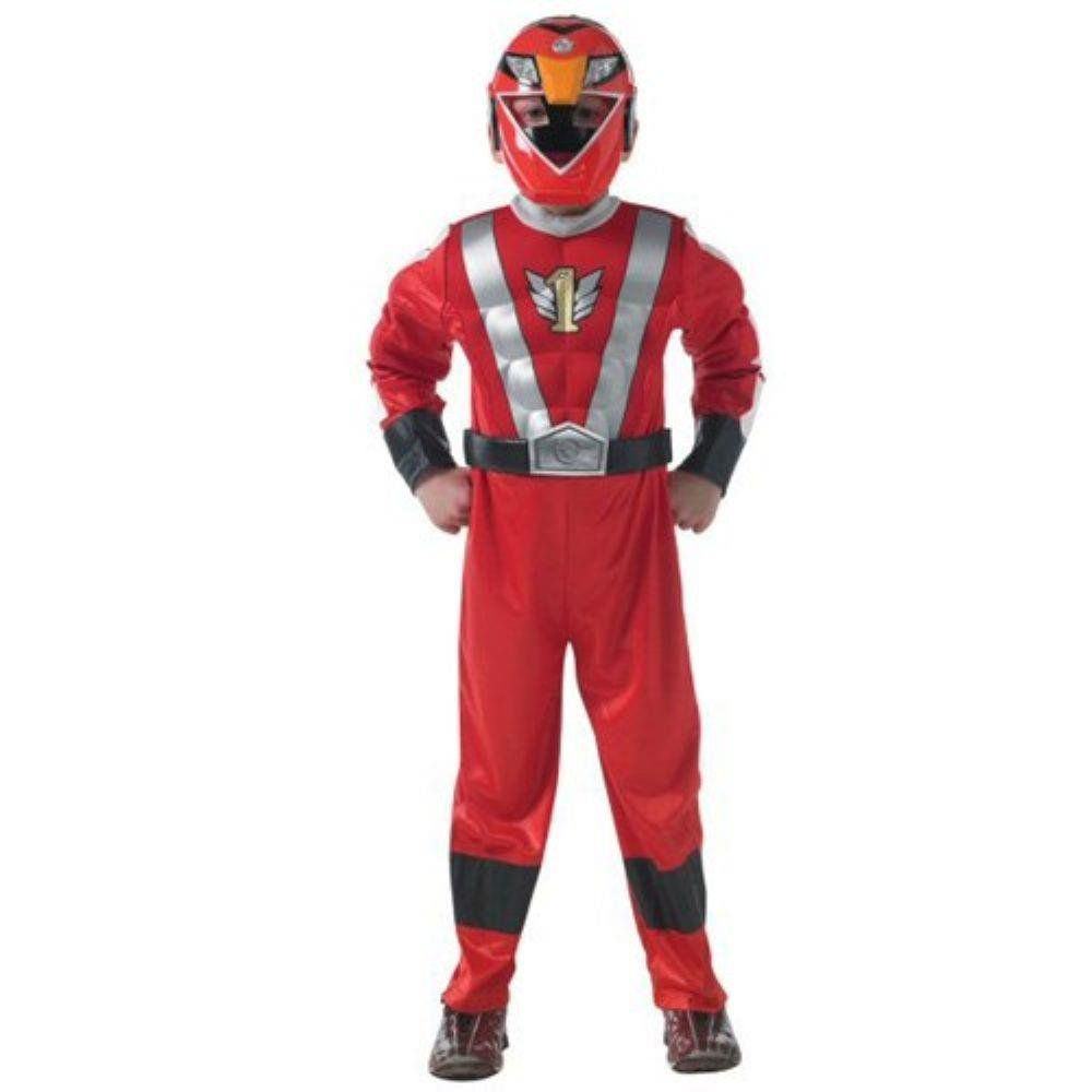 Fantasia Infantil: Red Ranger Muscle Chest M - Rubies