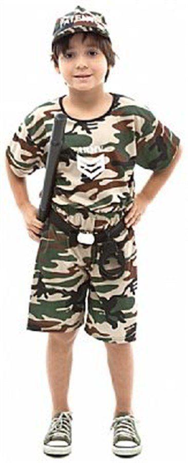 Fantasia Infantil Soldadinho Militar