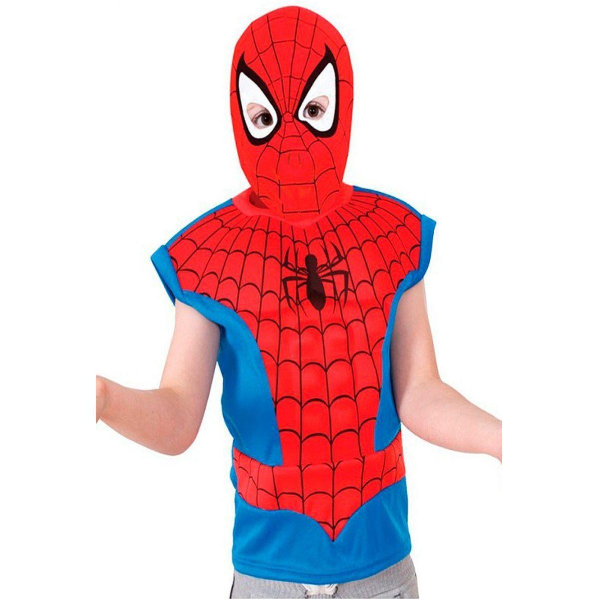 Fantasia Infantil: Spider-Man Camiseta Muscle Chest U - Rubies