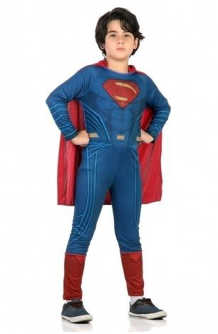 Fantasia Infantil Superman Macacão Com Capa: Batman vs Superman: A Origem da Justiça - Sulamericana