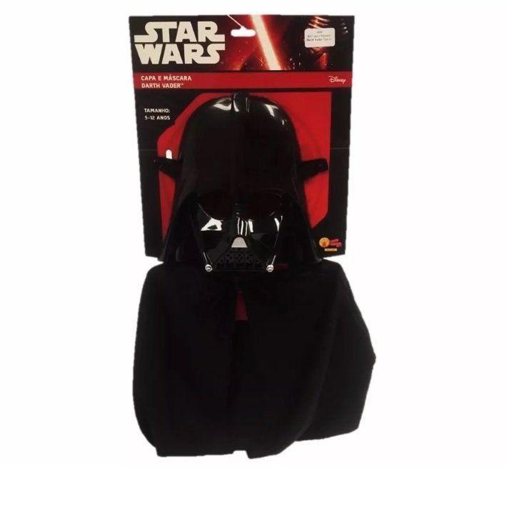 Fantasia Kit Infantil: Capa e Máscara Darth Vader U - Rubies