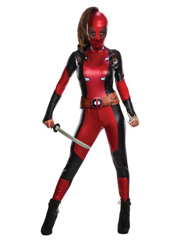 Fantasia Lady Deadpool Adulto M Marvel - Rubbies Co