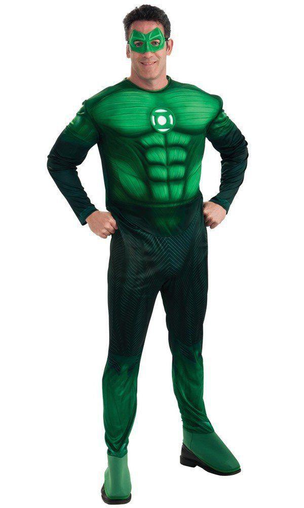 Fantasia Masculina Adulto: Green Lantern Muscle Chest M - Rubies