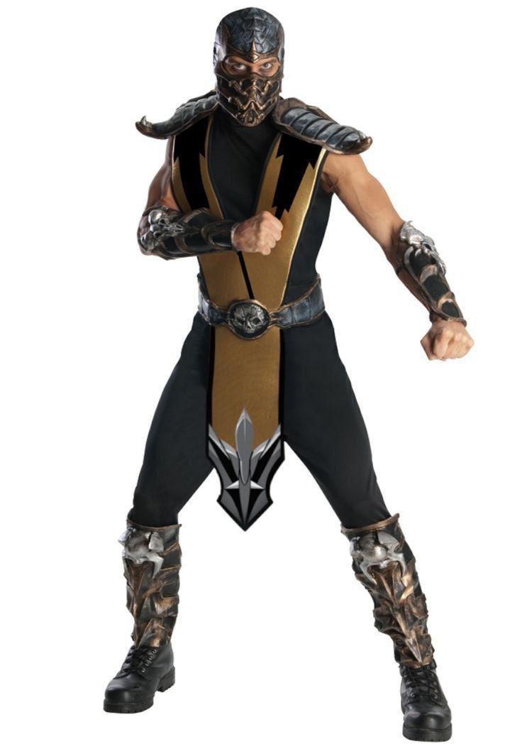 Fantasia Mortal Kombat Scorpion Deluxe Masculina - Rubies Costume