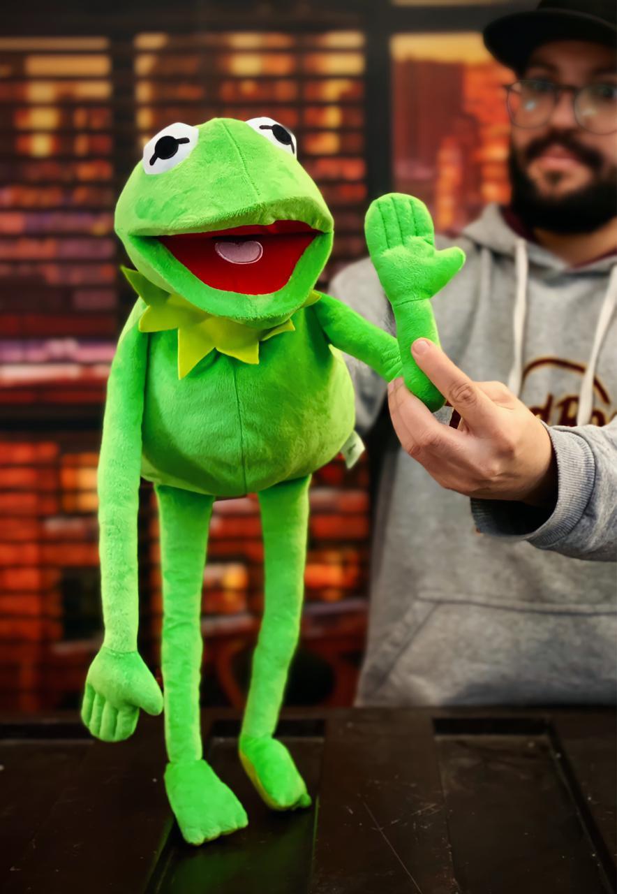 Fantoche Pelúcia Kermit Caco O Sapo: Os Muppets