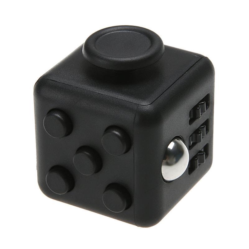 Fidget Cube Spinner Preto - Rolamento Anti Estresse Fidget Cube Spinner