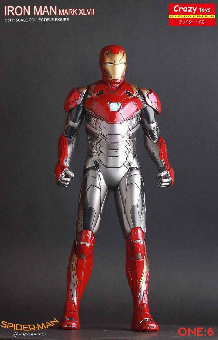 "Estátua ""Homem de Ferro Mark XLVII"" (Mark 47) (Iron Man Mark XLVII): Escala 1/6  - Crazy Toys"