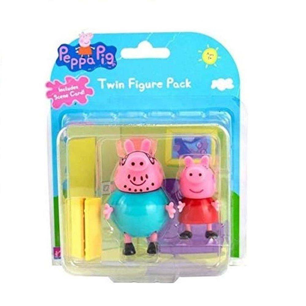 Figuras da Peppa (Papai Pig e Peppa): Peppa Pig - Sunny