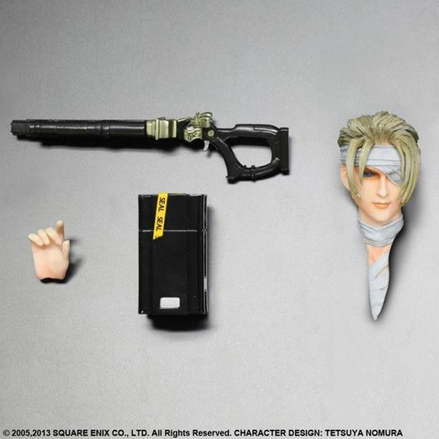 Boneco Rufus Shinra: Final Fantasy VII Escala 1/8 - Play Arts Kai (Square Enix)
