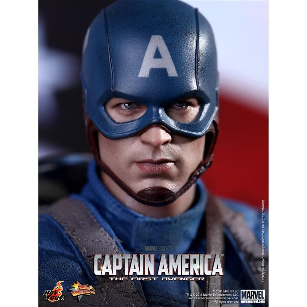 Action Figure Capitão América (Captain America): Capitão América O Primeiro Vingador (Captain America First Avenger) Escala 1/6 (MMS156) - Hot Toys