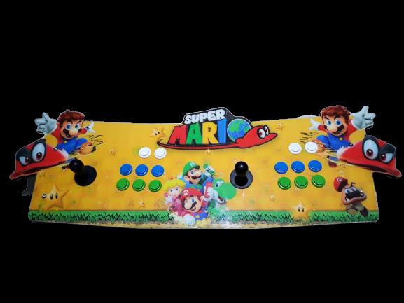 Fliperama Arcade 11.000 Jogos (SNES, PLAYSTATION 1 2, NINTENDO, MEGA DRIVE) Todos Vídeo Games: Super Mario Bros (Amarelo)