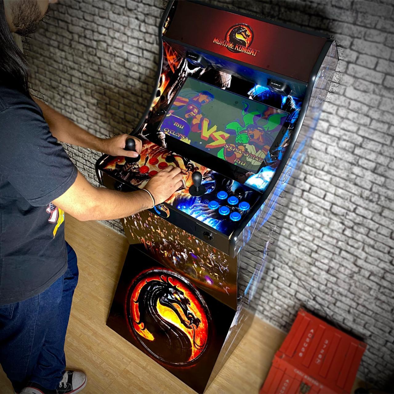 Fliperama Bartop Tela 19 +Base + 15000 Jogos - Modelo Mortal Kombat