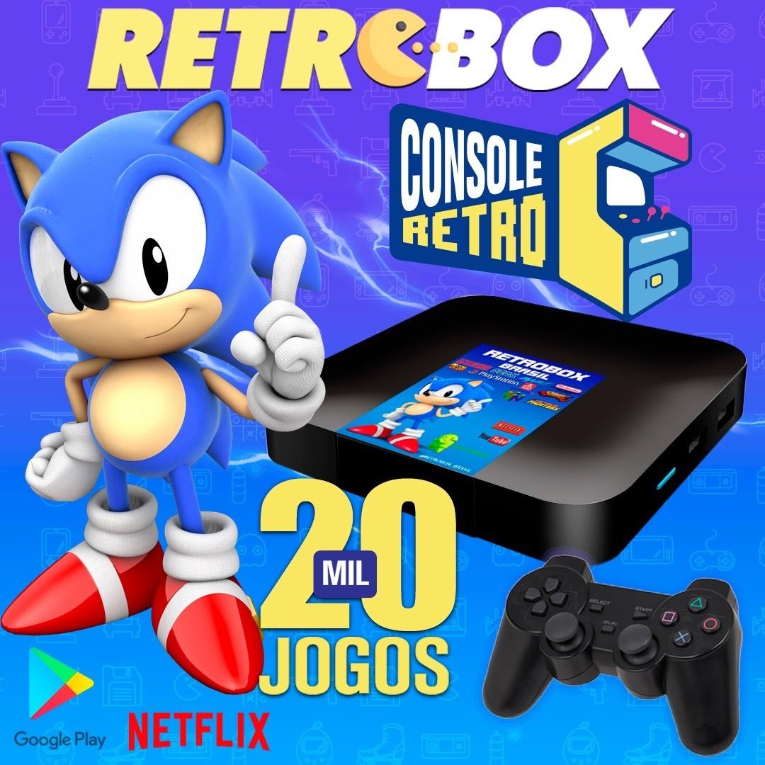 Fliperama / Retrô Box (20mil Jogos) - (1 Controle USB) - Arcade / Game   32Gb / Playstation / Neogeo / Sega / Super Nintendo 64 /Master System