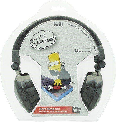 Fone de Ouvido Bart: The Simpsons (Preto) - Iwill