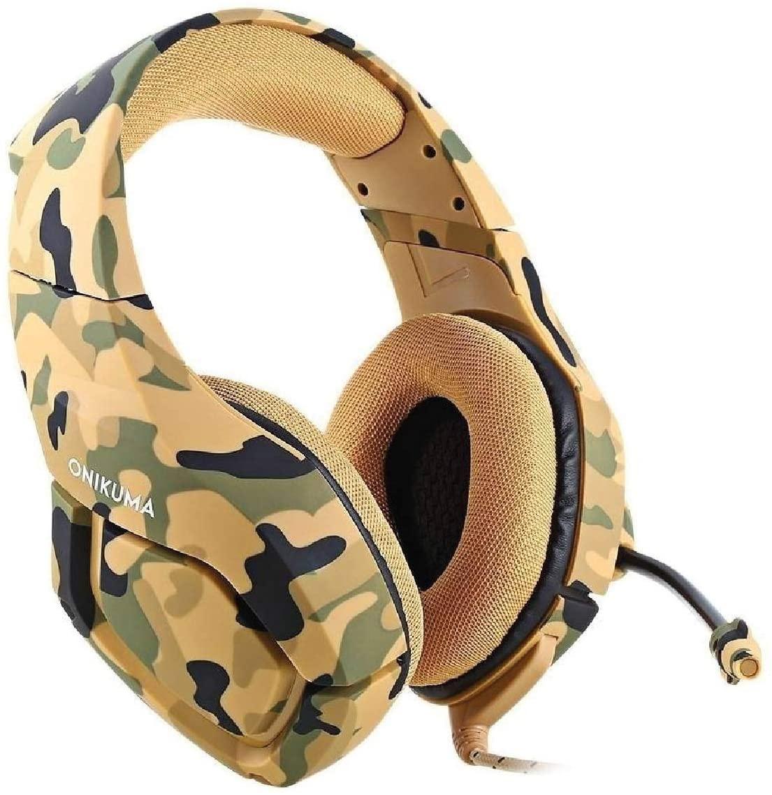 Fone Headset Gamer Profissional K18 Camuflagem Exército - Onikuma