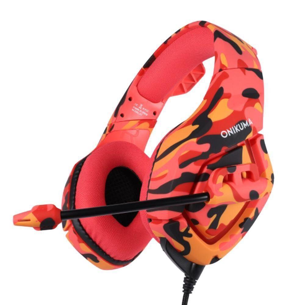 Fone Headset Gamer Profissional K18 Camuflagem Rosa - Onikuma