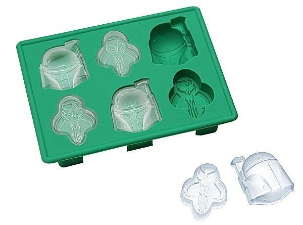 Forma de Gelo Silicone 3D Com 6 Moldes The Mandalorian Star Wars 4 cm