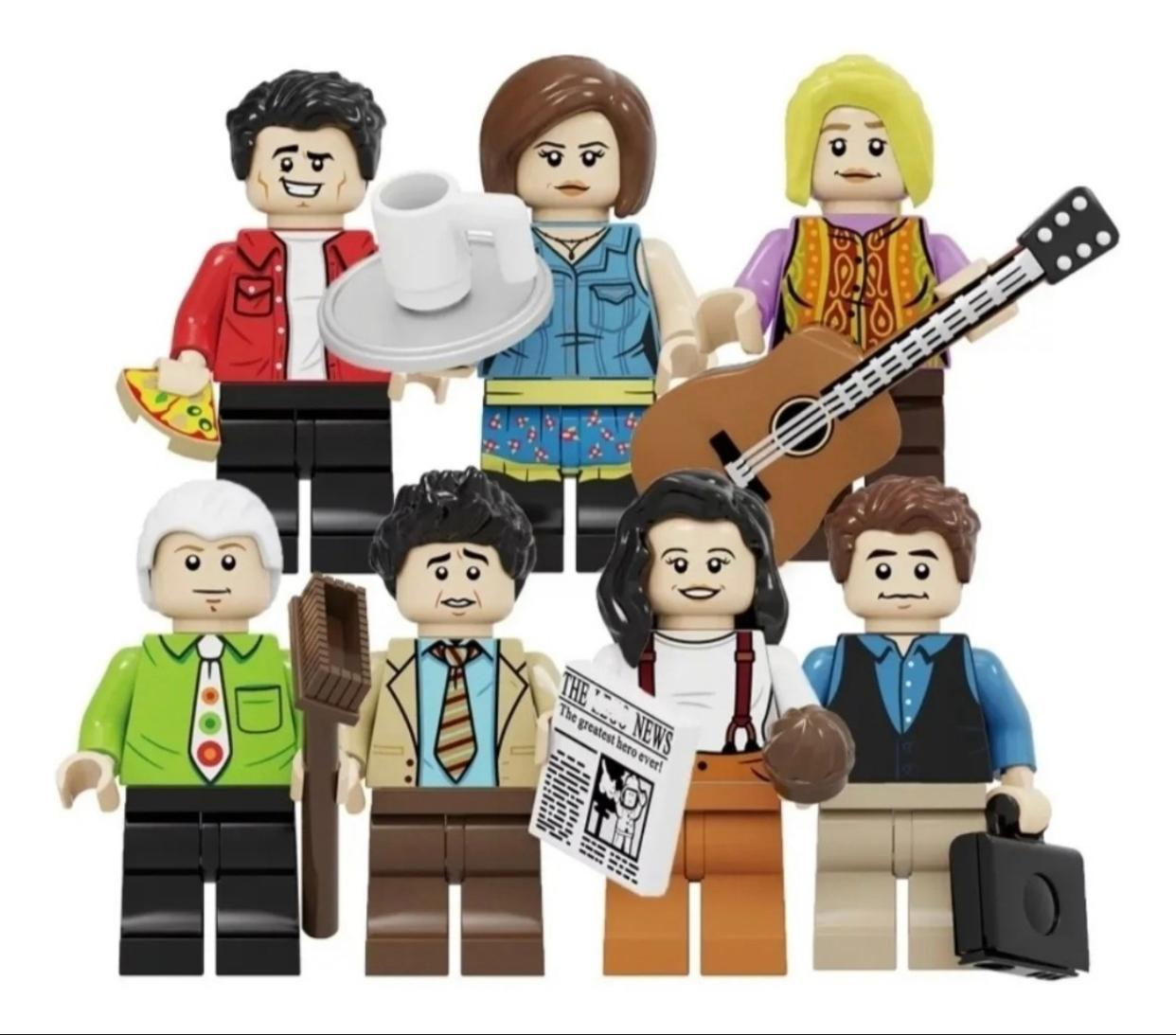 Friends Série Kit Com 7 Personagens: Lego Blocos De Montar - Friends