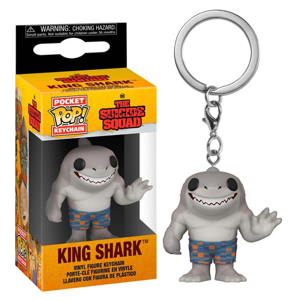 Funko Pocket Keychains Tubarão Rei King Shark O Esquadrão Suicida The Suicide Squad - Funko