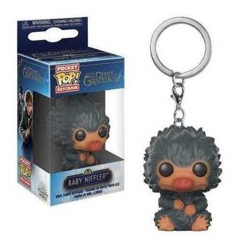 Funko Pocket Pop Keychains (Chaveiro) Baby Niffler ''Cinza'': Animais Fantásticos: Os Crimes de Grindelwald - Funko