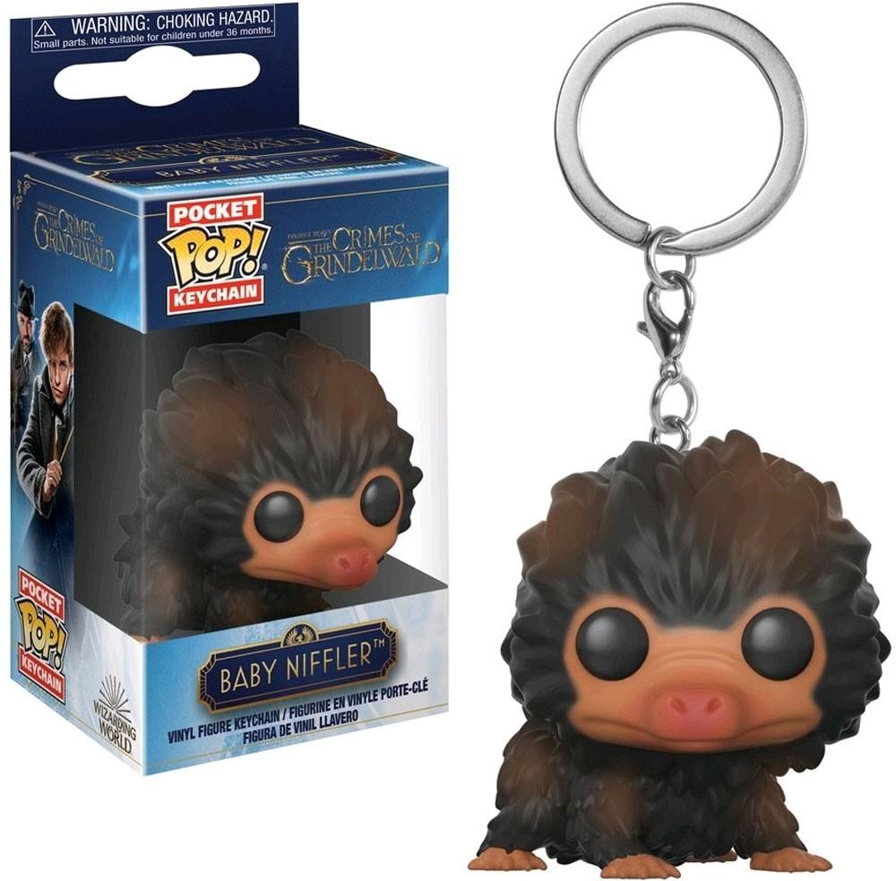 Funko Pocket Pop Keychains (Chaveiro) Baby Niffler ''Marrom'': Animais Fantásticos: Os Crimes de Grindelwald - Funko