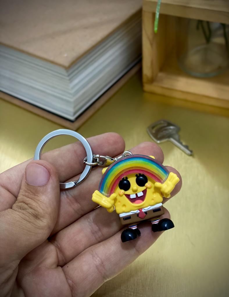 Funko Pocket Pop Keychains (Chaveiro) Bob Esponja Com Arco-íris Exclusivo - Funko