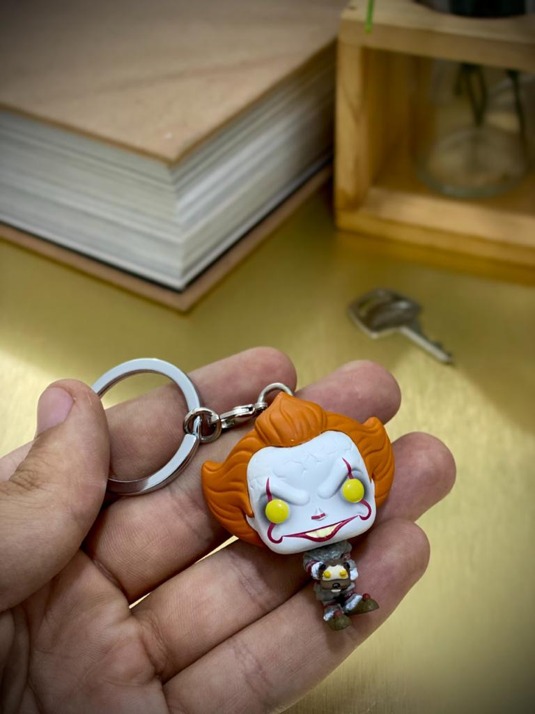 Funko Pocket Pop Keychains (Chaveiro) Pennywise (With Beaver Hat): It Chapter II - Funko